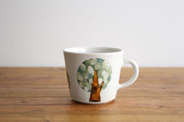 マグカップ 木 白 陶器 はるな陶芸工房