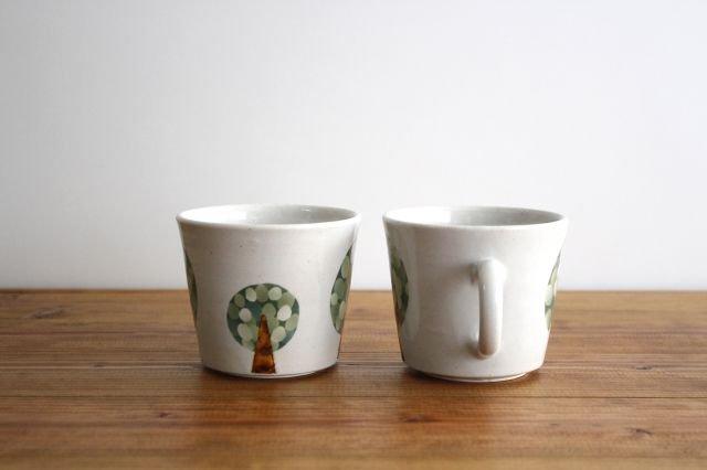 マグカップ 木 白 陶器 はるな陶芸工房 画像3