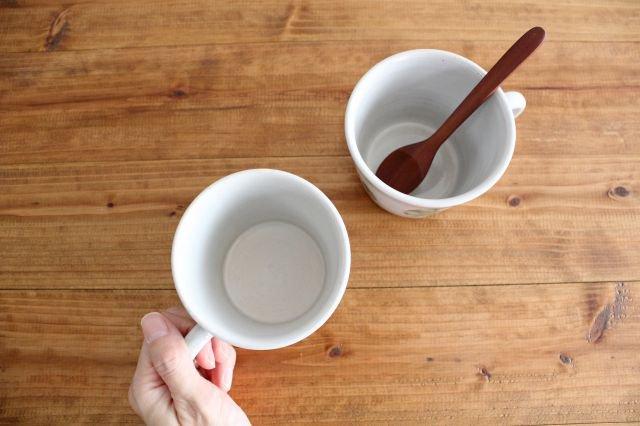 マグカップ 木 白 陶器 はるな陶芸工房 画像4