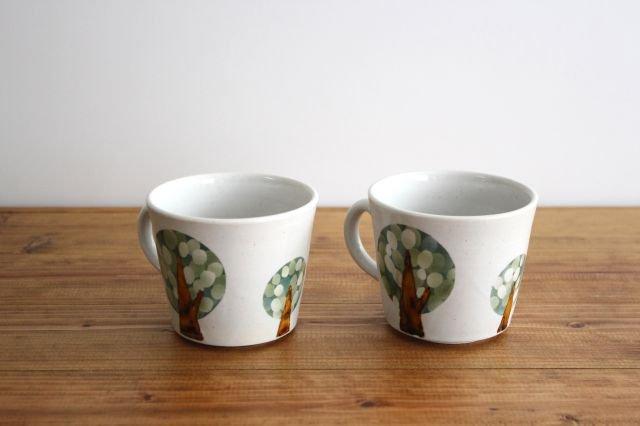 マグカップ 木 白 陶器 はるな陶芸工房 画像5