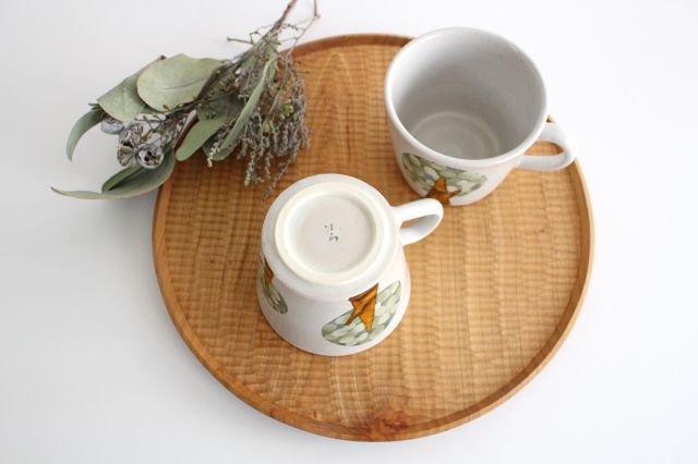 マグカップ 木 白 陶器 はるな陶芸工房 画像6