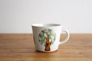 マグカップ 木 白 陶器 はるな陶芸工房商品画像
