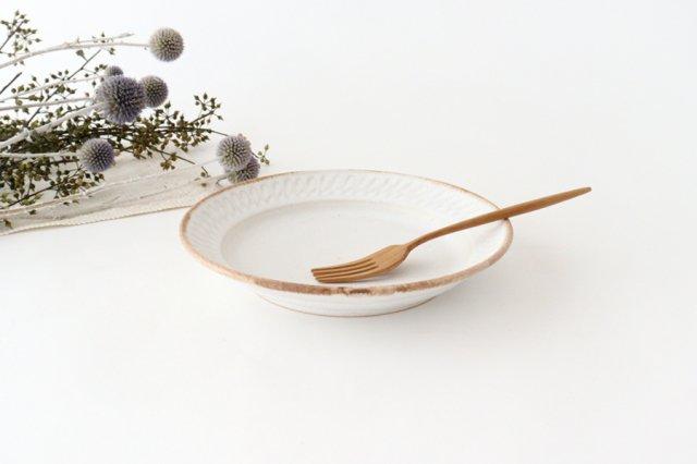 ホワイト相鎬6寸皿 陶器 中野明彦 画像3