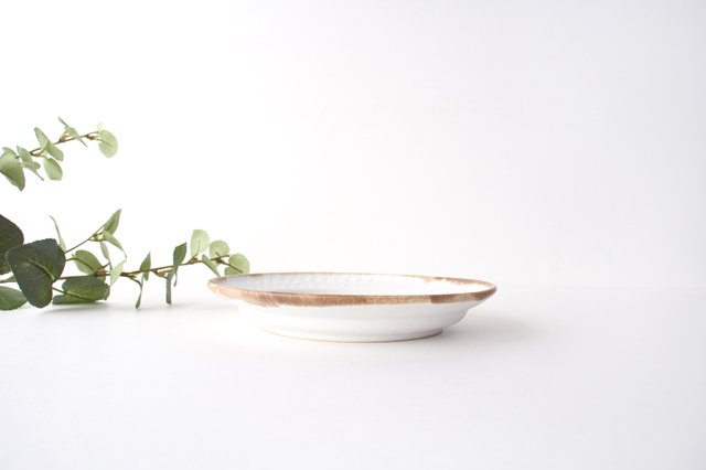 ホワイト相鎬6寸皿 陶器 中野明彦 画像5