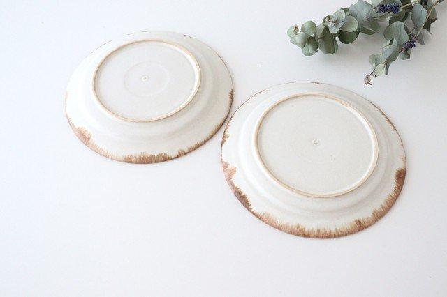ホワイト相鎬6寸皿 陶器 中野明彦 画像6
