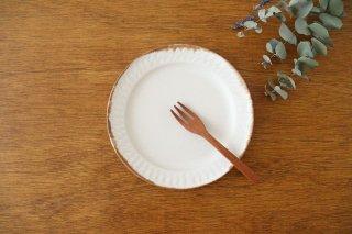 ホワイト相鎬6寸皿 陶器 中野明彦商品画像