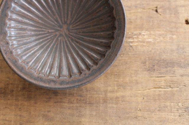 ブラウン鎬3寸皿 陶器 中野明彦 画像4
