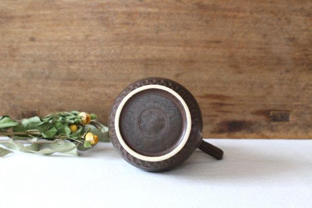 【一点もの】ブラウンピッチャー 陶器 中野明彦 画像3