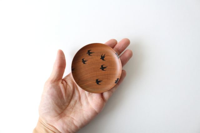 豆皿 ツバメ さくら 【B】 白鷺木工 画像3
