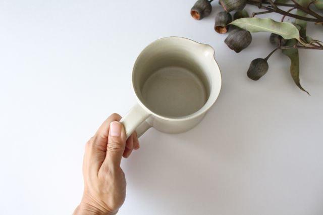 ピッチャー 白せと 陶器 青人窯 画像2