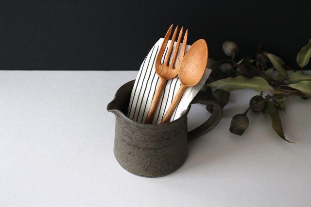 ピッチャー 柿灰 陶器 青人窯 画像3