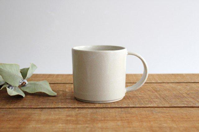 コーヒーカップ 白せと 陶器 青人窯 大山 育男