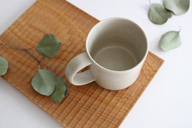 コーヒーカップ 白せと 陶器 青人窯 大山 育男 画像2