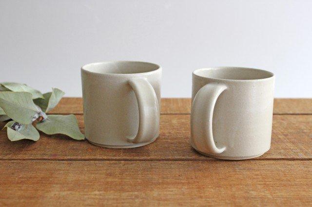 コーヒーカップ 白せと 陶器 青人窯 大山 育男 画像3
