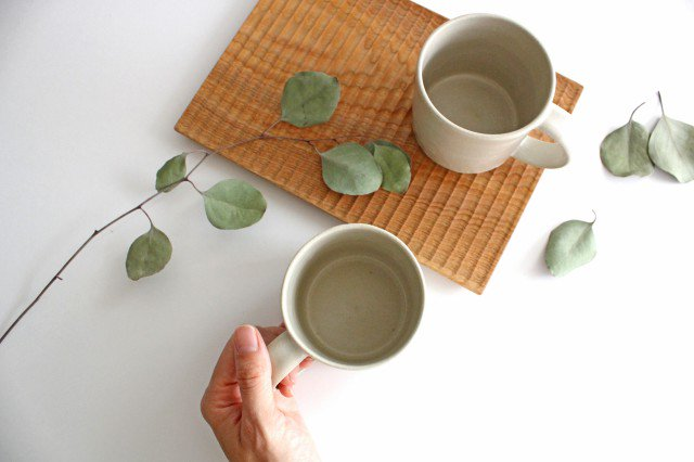 コーヒーカップ 白せと 陶器 青人窯 大山 育男 画像4