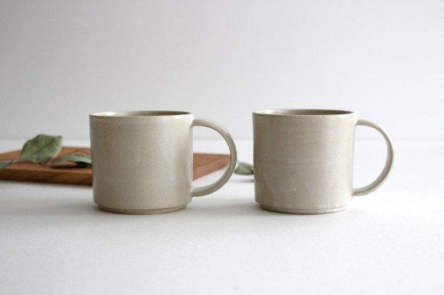 コーヒーカップ 白せと 陶器 青人窯 大山 育男 画像5