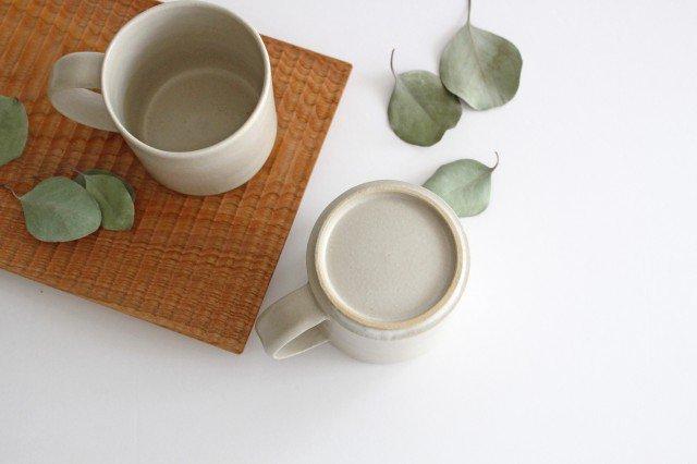 コーヒーカップ 白せと 陶器 青人窯 大山 育男 画像6
