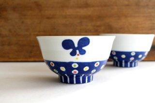 茶碗 飛んでるちょう 磁器 皐月窯 砥部焼商品画像