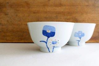 茶碗 花 磁器 皐月窯 砥部焼商品画像