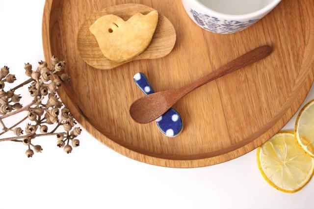 箸置き スプーン 水玉 磁器 皐月窯 砥部焼 画像3