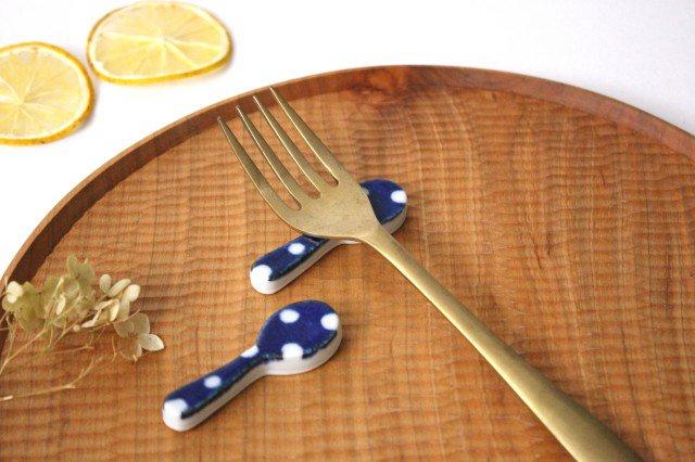 箸置き スプーン 水玉 磁器 皐月窯 砥部焼 画像4