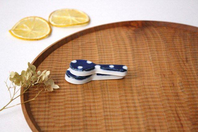 箸置き スプーン 水玉 磁器 皐月窯 砥部焼 画像6