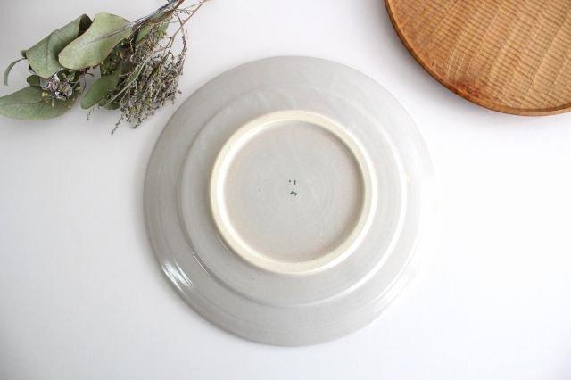 プレート 木 白 大 陶器 はるな陶芸工房 画像3