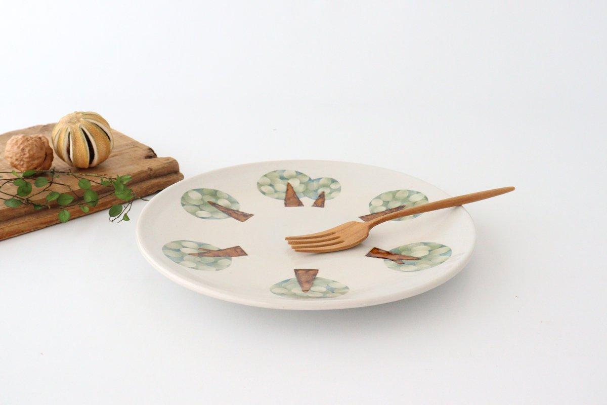プレート 木 白 中 陶器 はるな陶芸工房 画像2