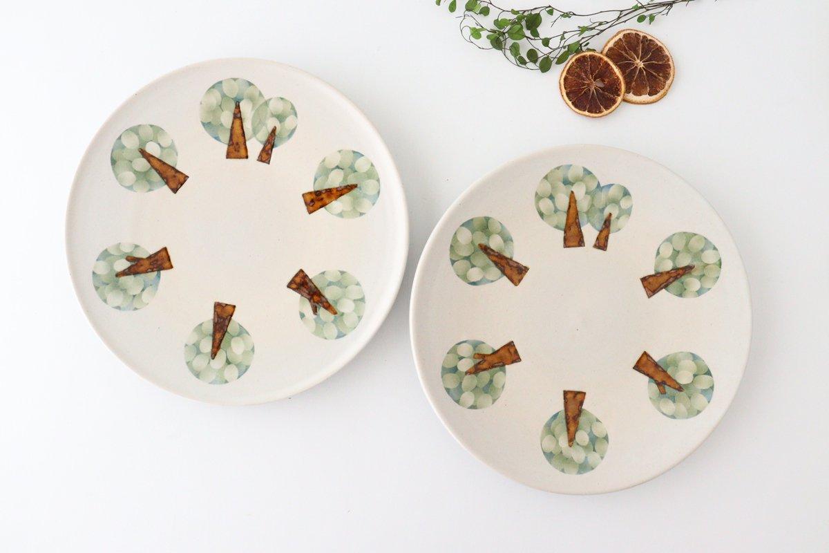 プレート 木 白 中 陶器 はるな陶芸工房 画像3