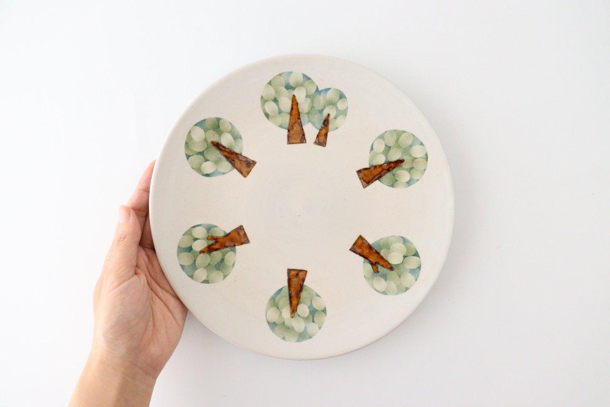 プレート 木 白 中 陶器 はるな陶芸工房 画像4