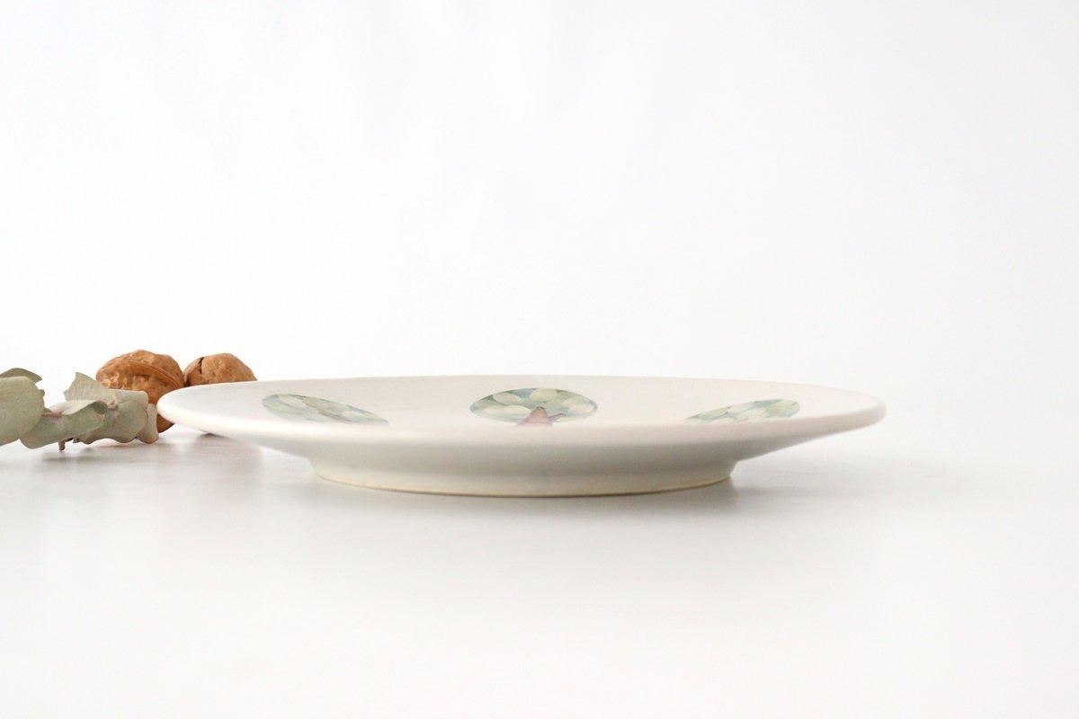 プレート 木 白 中 陶器 はるな陶芸工房 画像6