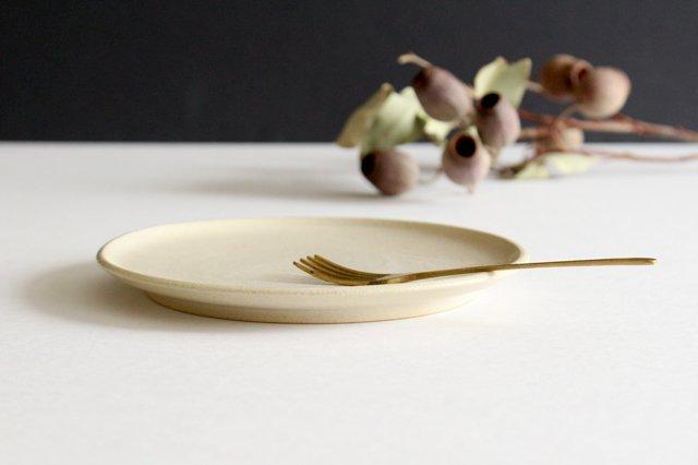 5寸ケーキ皿 白せと 陶器 青人窯 画像3