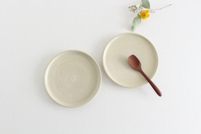 5寸ケーキ皿 白せと 陶器 青人窯 画像5