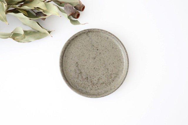 5寸ケーキ皿 柿灰 陶器 青人窯 画像2