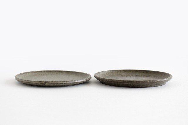 5寸ケーキ皿 柿灰 陶器 青人窯 画像3