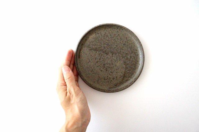 5寸ケーキ皿 柿灰 陶器 青人窯 画像6