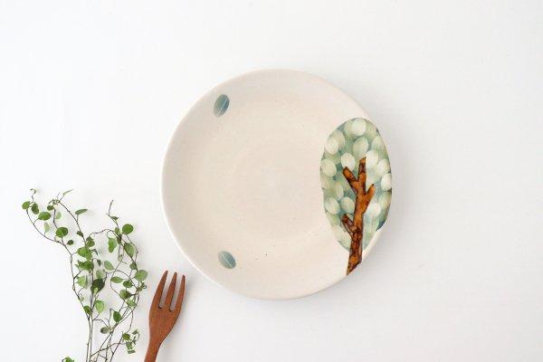 プレート 木 白 小 陶器 はるな陶芸工房商品画像