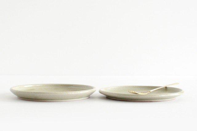 5寸ケーキ皿 魚沼緑灰 陶器 青人窯 大山 育男 画像2