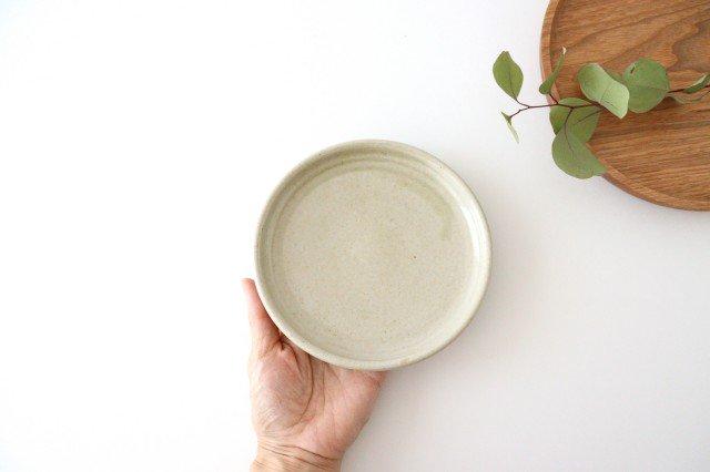 5寸ケーキ皿 魚沼緑灰 陶器 青人窯 大山育男 画像3