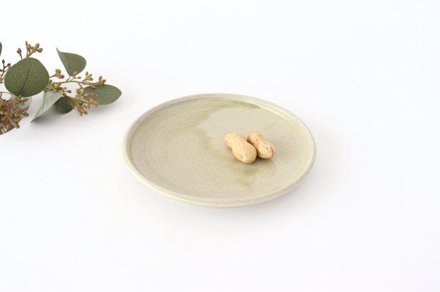 5寸ケーキ皿 魚沼緑灰釉 陶器 青人窯 大山育男 画像4