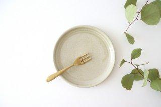5寸ケーキ皿 魚沼緑灰 陶器 青人窯 大山 育男商品画像