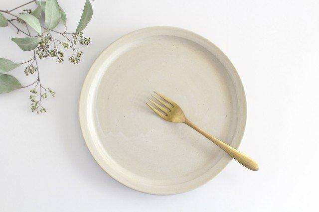 8寸皿 白せと 陶器 青人窯