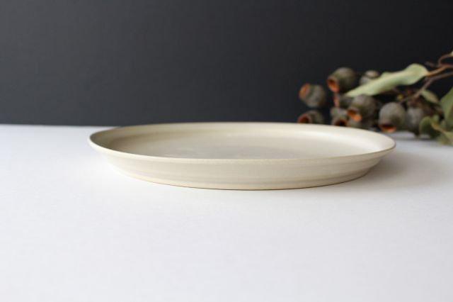 8寸皿 白せと 陶器 青人窯 画像2