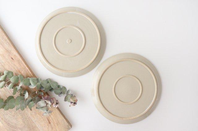 8寸皿 白せと 陶器 青人窯 画像3