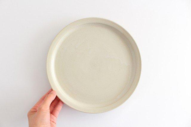 8寸皿 白せと 陶器 青人窯 画像4