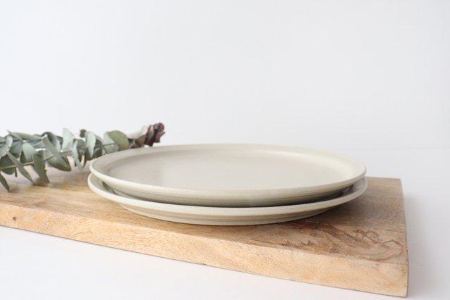 8寸皿 白せと 陶器 青人窯 画像6
