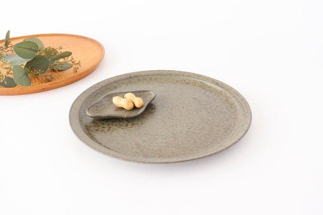 8寸皿 柿灰 陶器 青人窯 画像3