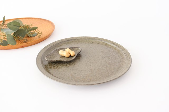 8寸皿 柿灰 陶器 青人窯 画像4