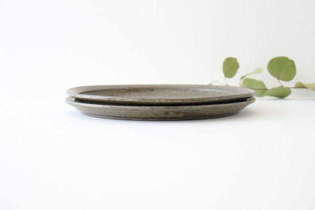 8寸皿 柿灰 陶器 青人窯 画像5