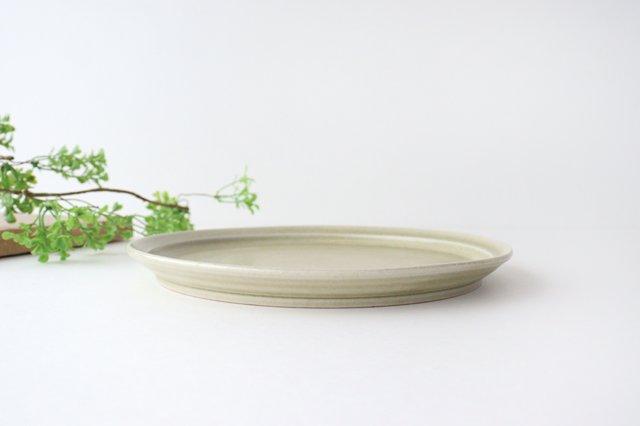 8寸皿 魚沼緑灰 陶器 青人窯 画像4